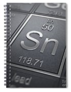 Tin Chemical Element Spiral Notebook