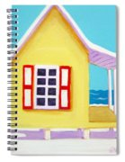 Tiny Yellow Cottage By The Sea Spiral Notebook