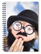 Tired Man With Day Sleeping With Insomnia Spiral Notebook