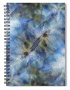 Tissue Paper Blues Spiral Notebook