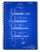 Tobacco Pipe Patent 1944 - Blue Spiral Notebook