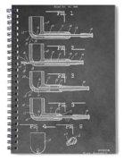 Tobacco Pipe Patent Spiral Notebook
