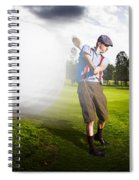 Top Flight Golf Spiral Notebook