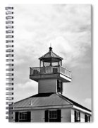 Top Of The New Canal Lighthouse - Bw Spiral Notebook