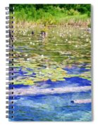 Torch River Water Lilies Spiral Notebook
