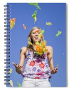 Toss The Feathers Spiral Notebook