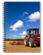 Tractor In Plowed Field Spiral Notebook