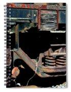 Train Wheels Spiral Notebook