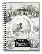 Travel Poster, C1882 Spiral Notebook