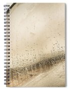 Travelling Photographer Taking Wet Weather Photo  Spiral Notebook