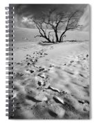 Tree Branch And Footprints On Sleeping Bear Dunes Spiral Notebook