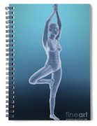 Tree Yoga Pose Spiral Notebook