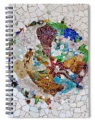 Trencadis Mosaic In Park Guell In Barcelona Spiral Notebook