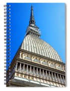 Turin Mole Antonelliana Spiral Notebook