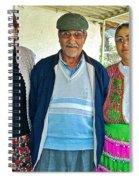 Turkish Family In Demircidere Koyu In Kozak-turkey  Spiral Notebook