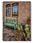 Turquoise Bench Spiral Notebook