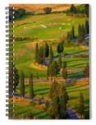Tuscan Road Spiral Notebook