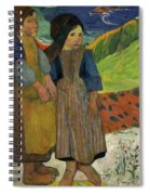 Two Breton Girls By The Sea Spiral Notebook