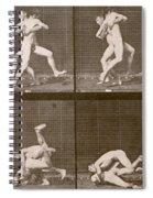 Two Men Wrestling Spiral Notebook