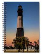 Tybee Light Sunset Spiral Notebook