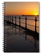 Tynemouth Pier Sunrise Spiral Notebook