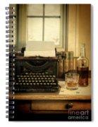 Typewriter And Whiskey Spiral Notebook