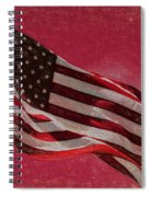 Us Flag Spiral Notebook
