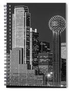 Usa, Texas, Dallas, Panoramic View Spiral Notebook