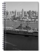 Uss Boxer In San Diego  Spiral Notebook