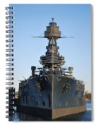 Uss Texas Bow Spiral Notebook