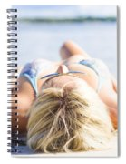 Vacation Girl Sleeping On Sand Spiral Notebook