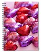 Valentine Hearts Spiral Notebook