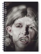 Vampire Woman Holding Flower. Horror Valentine Spiral Notebook