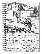 Van Gogh Letter, 1888 Spiral Notebook