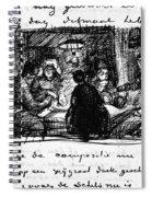 Van Gogh Letter Spiral Notebook
