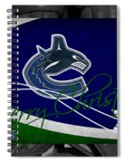 Vancouver Canucks Christmas Spiral Notebook