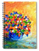 Vase With Flowers Spiral Notebook