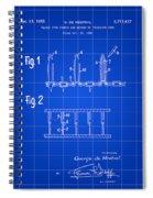 Velcro Patent 1952 - Blue Spiral Notebook