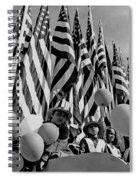 Veteran's Day Parade University Of Arizona Tucson Black And White Spiral Notebook