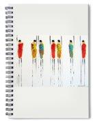 Vibrant Masai Warriors - Original Artwork Spiral Notebook