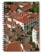 View Of Kotor Town In Montenegro Spiral Notebook