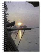 View Of Sunrise From The Window Of A Houseboat Spiral Notebook