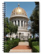 View Of Terraces Of The Shrine Spiral Notebook