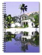 View Of The Cottages And Lagoon Water In Alleppey Spiral Notebook