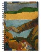 Vincent Van Gogh Painting Sunflowers Spiral Notebook