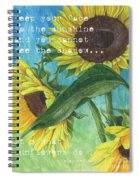 Vince's Sunflowers 1 Spiral Notebook