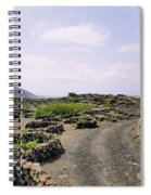 Vineyard On Lanzarote Spiral Notebook