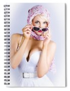 Vintage Blond Beauty In Pinup Fashion Accessories Spiral Notebook