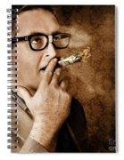Vintage Business Man Smoking Money In Success Spiral Notebook
