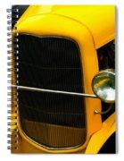 Vintage Car Yellow Detail Spiral Notebook